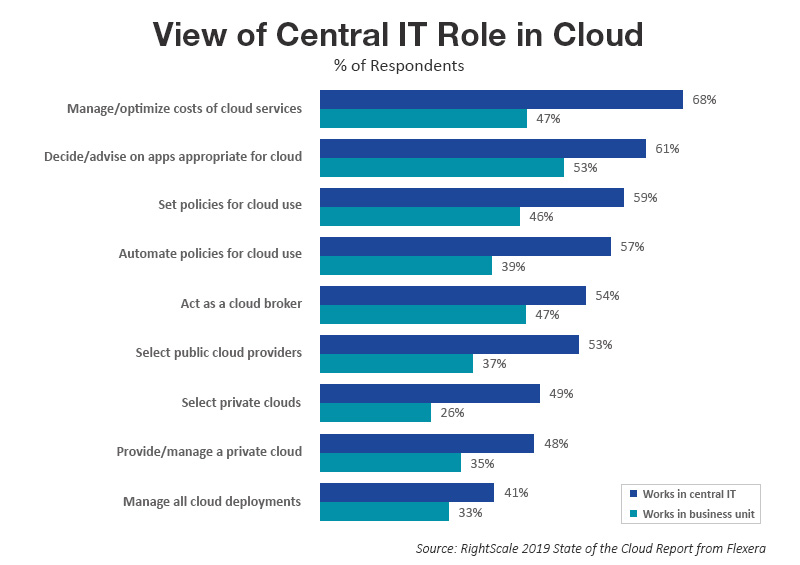 View of Central IT Role in Cloud
